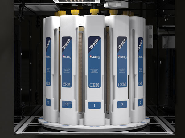 Digest large samples for metals analysis with iPrep vessels and MARS 6 Microwave Digestion System