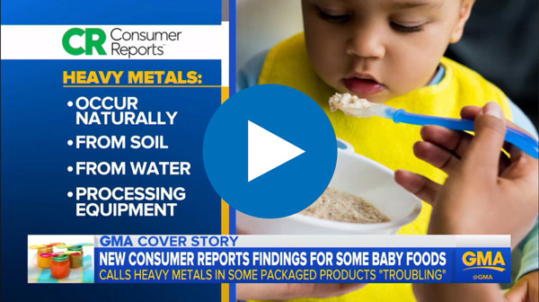 Heavy Metals in Baby Food - Consumer Reports using CEM MARS 6