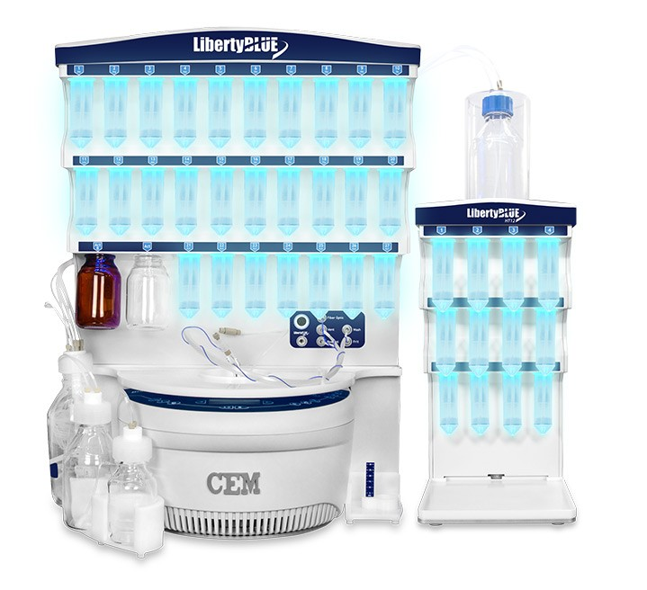 Liberty Blue Peptide Synthesis System with HT-12 Resin Loader (120 v)