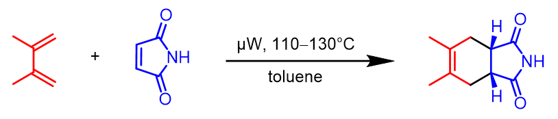 Microwave-heated Diels-Alder reaction in toluene